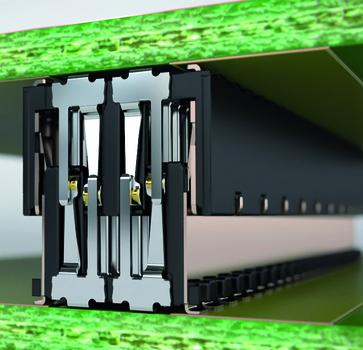 Darstellung der Schirmung des Zero8 Leiterplattensteckverbinders